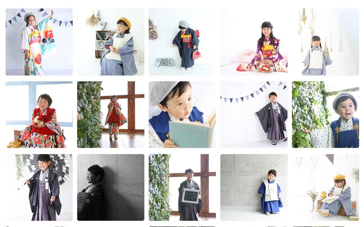 世田谷・三茶のモダンでお洒落な七五三写真スタジオ